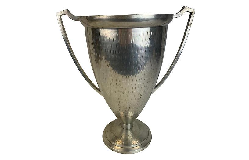 Hammered Metal Loving Cup Wine Bucket