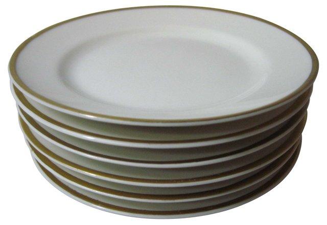 Haviland Butter & Roll Plates, S/6