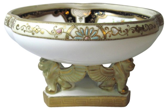 Nippon Egyptian Sphinx Pedestal Bowl