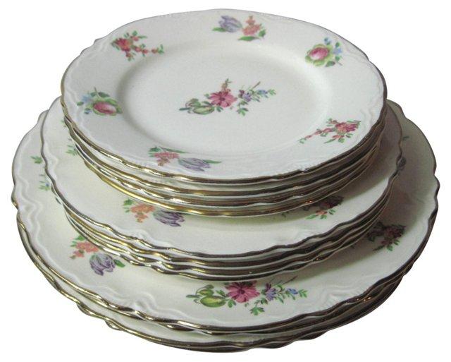 Laughlin Priscilla Plates, S/12