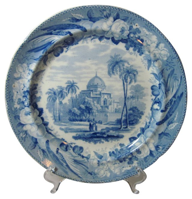 Historical Staffordshire Plate, C. 1810