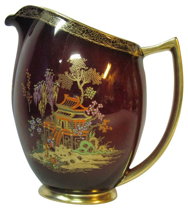 Rouge Royale Chinoiserie Pitcher