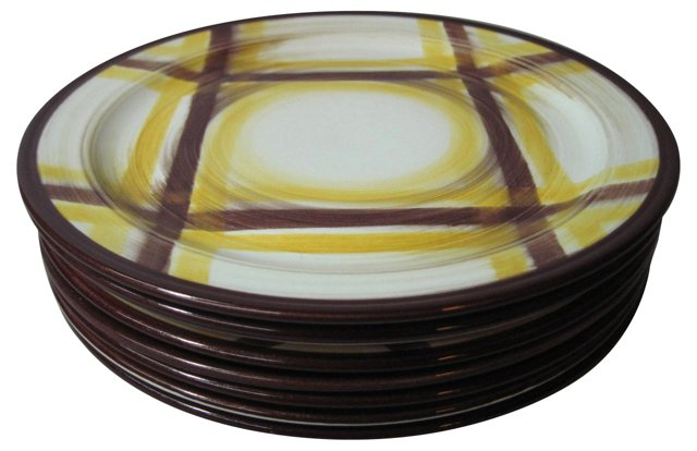 Vernon Kilns Dinner Plates, S/8