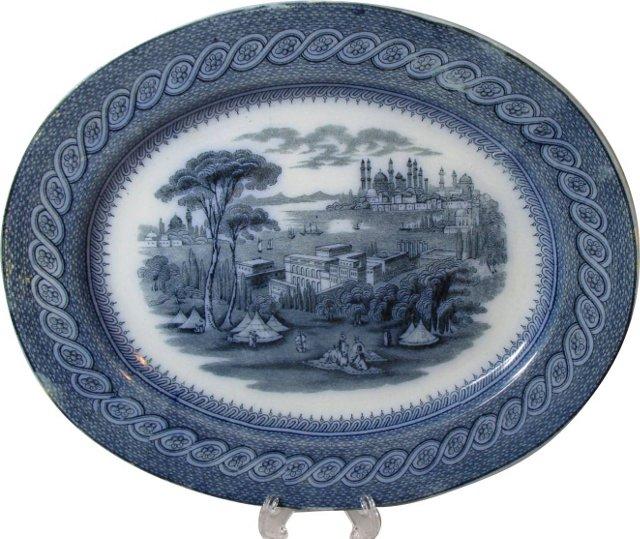 Byzantium Flow Blue Platter