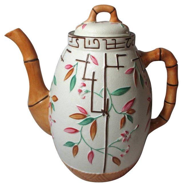 Antique English Majolica Coffee Pot