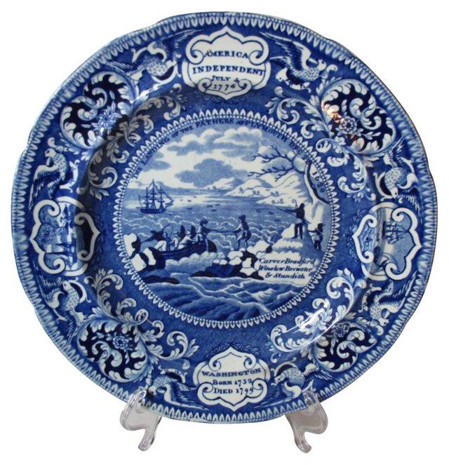Staffordshire  Plate, C. 1810