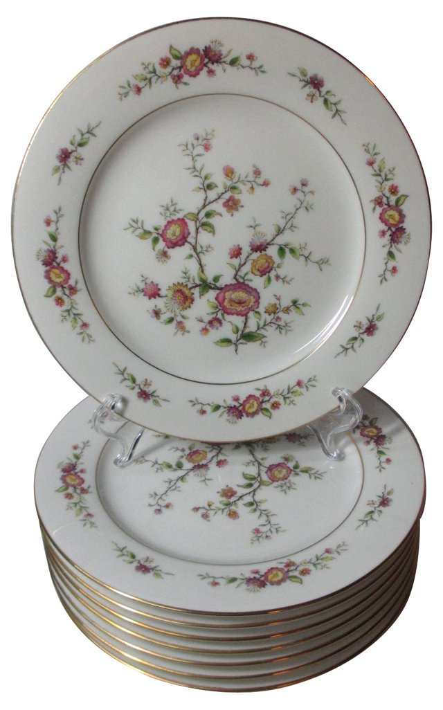 Noritake Asian Song Lunch Plates, S/8