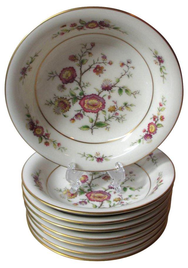 Noritake Floral Dessert Bowls, S/8