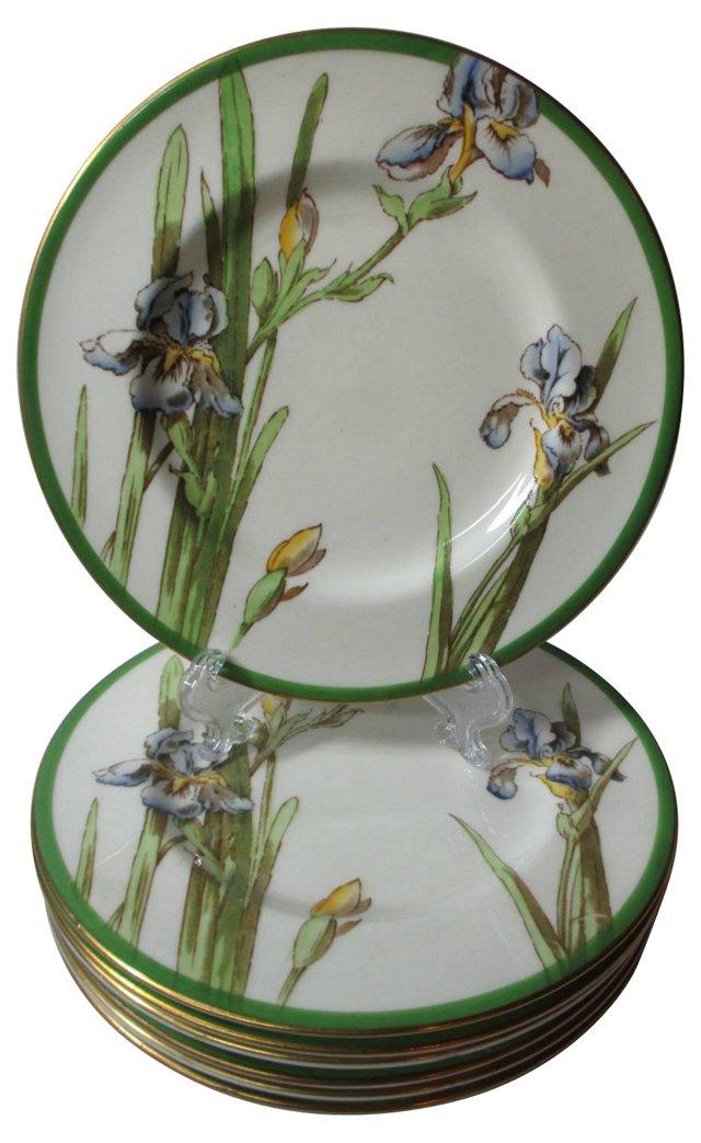 Royal Doulton Iris Dessert Plates, S/7