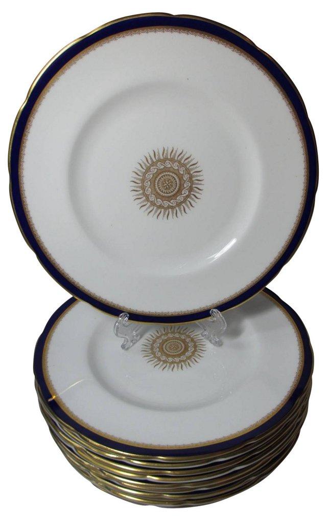 Coalport Cobalt Lunch Plates, S/11