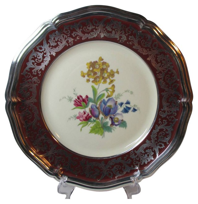 Sterling Overlay Bouquet Wall Plate
