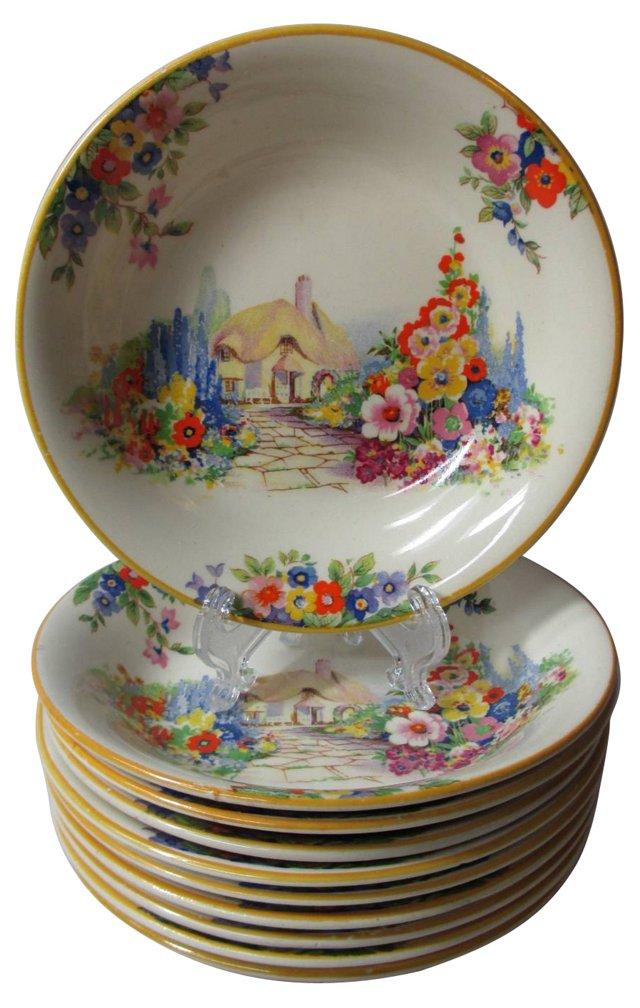English Gardens Dessert Bowls, S/10