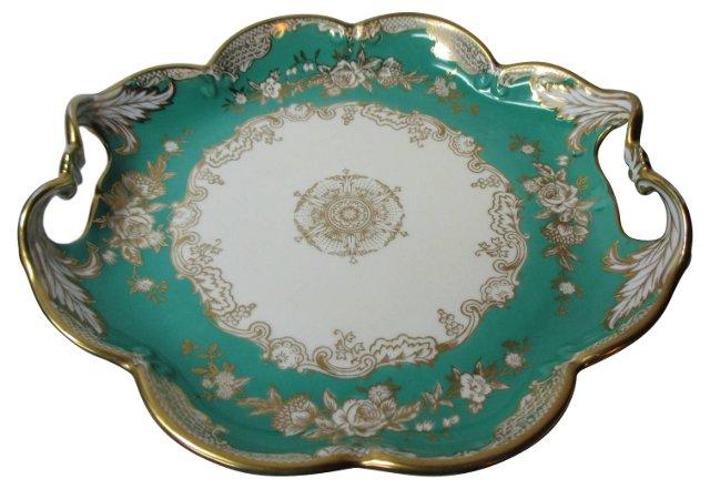 Noritake Teal Handled Plate