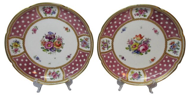 Hand-Painted Limoges Chargers, Pair