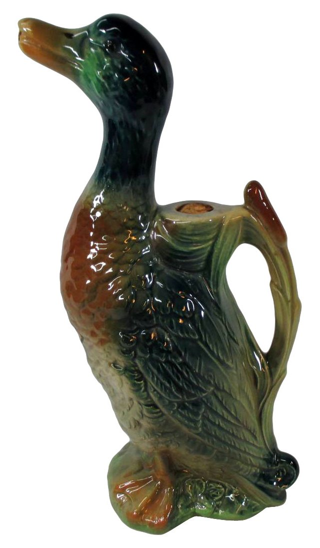 French Majolica Duck Decanter