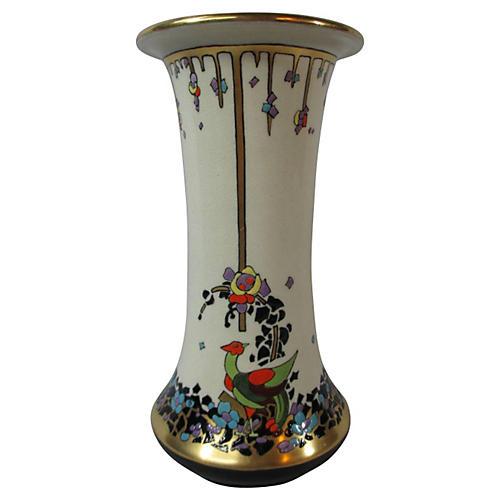 American Satsuma Art Deco Vase