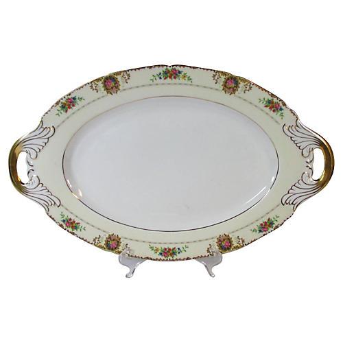 Art Noveau Handled Serving Platter