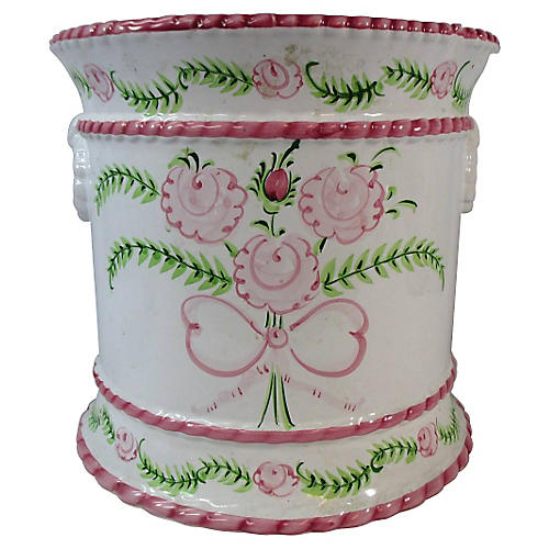 Hand-Painted Faience Wine Chiller