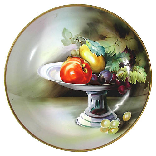 Hand-Painted Nippon Footed Bowl