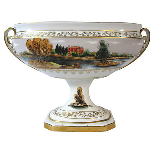 Italian Scenic Pedestal Bowl