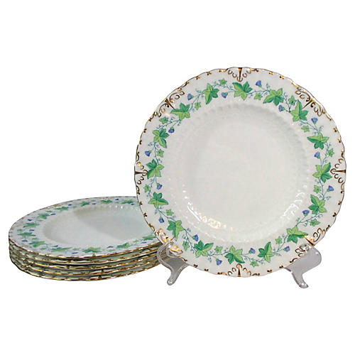 Crown Derby Luncheon Plates, S/6