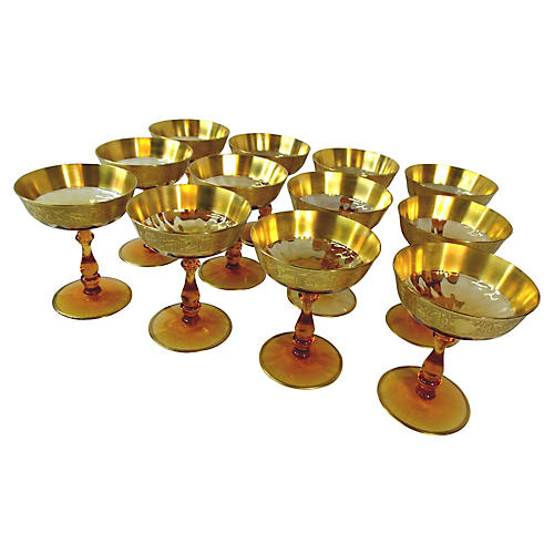 Amber Champagne / Dessert Coupes, S/12