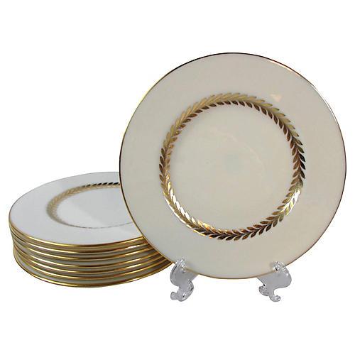 Lenox Gold & Cream Salad Plates, S/8