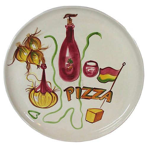 Midcentury Pizza Serving Tray