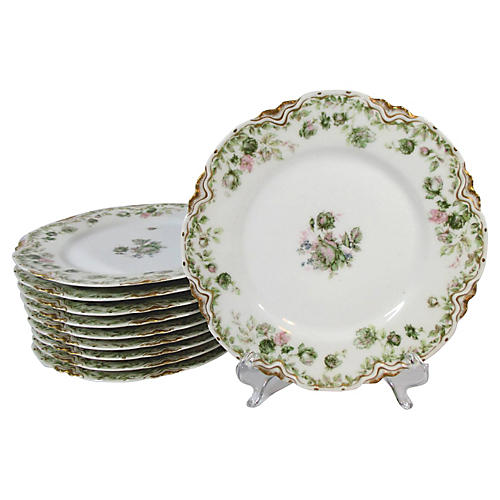 Limoges Lunch / Salad Plates S/10