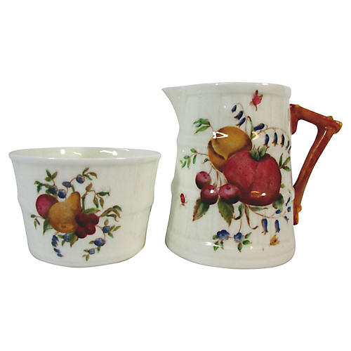 Royal Worcester Harvest Sugar & Creamer