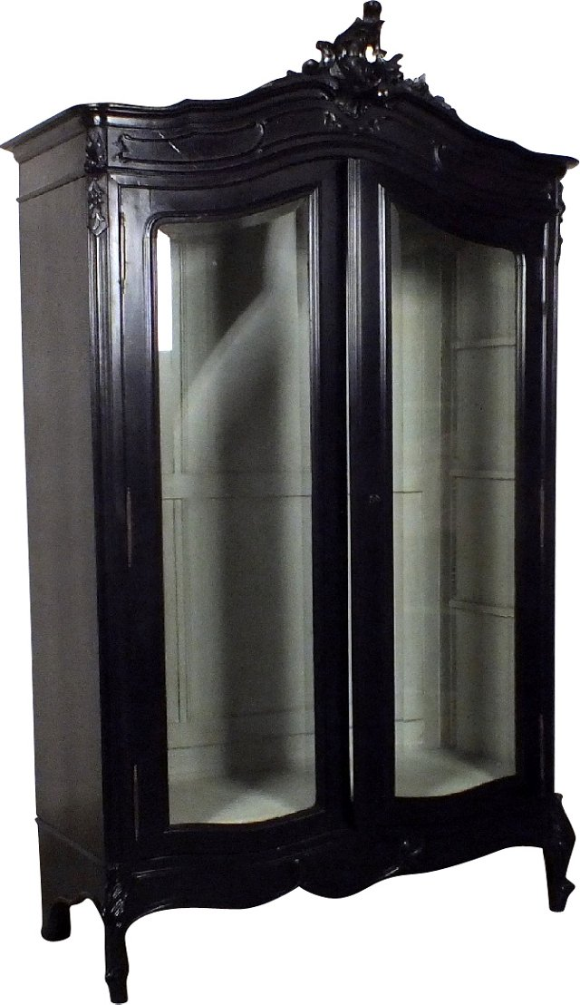 Black Louis XV-Style Cabinet
