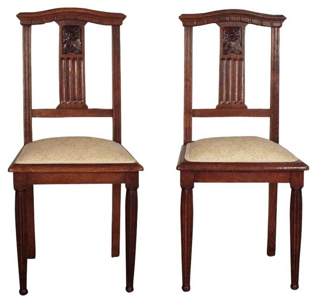Art Deco-Style Side Chairs,