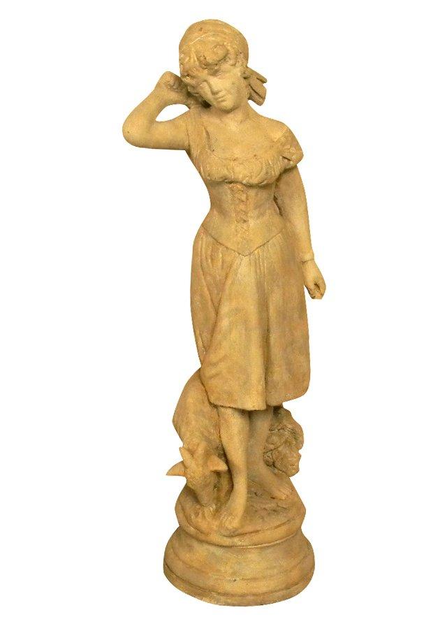 Garden Girl Statue
