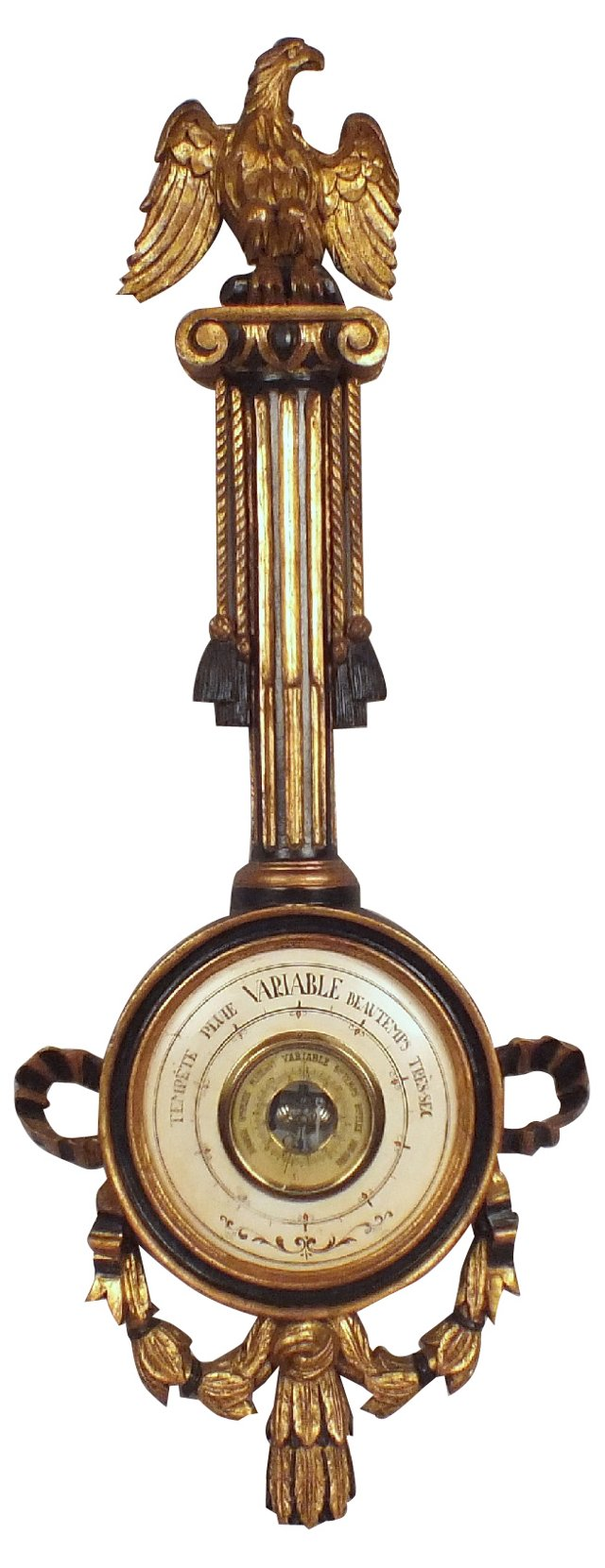 Empire-Style Giltwood Barometer