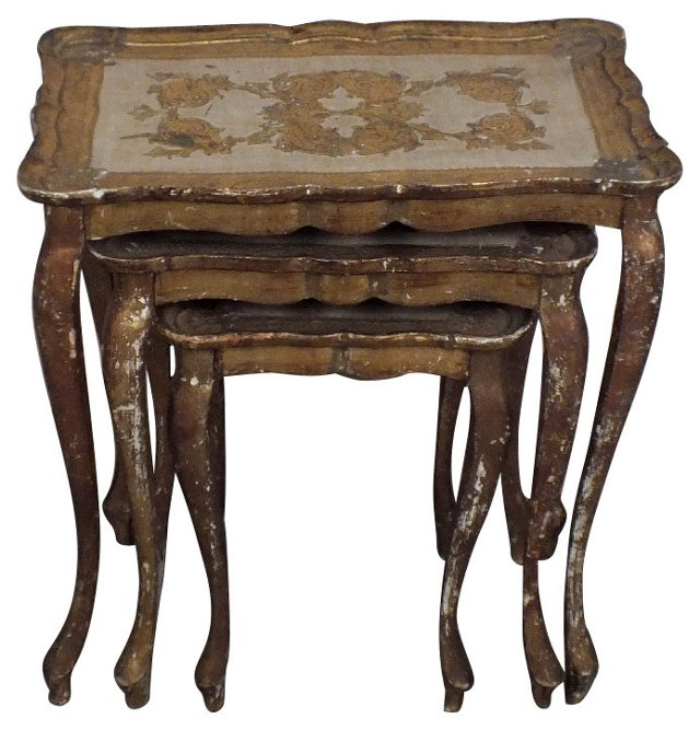 Italian Nesting Tables, Set of 3