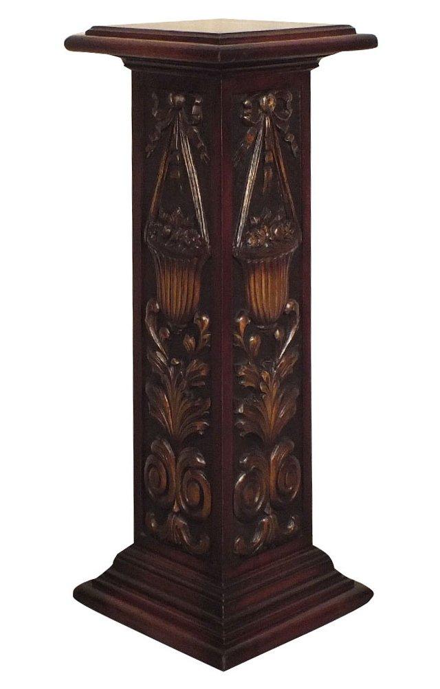 Carved Wood Pedestal