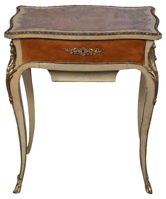 French Marquetry Sewing Table