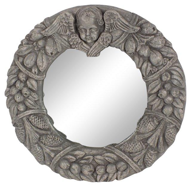 Round Fruit Wall Mirror