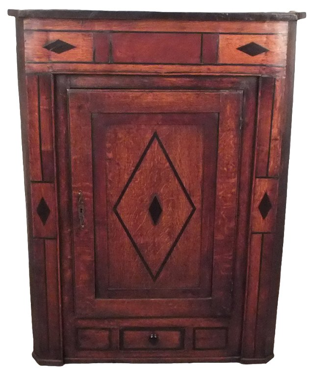 Antique European Corner Cabinet
