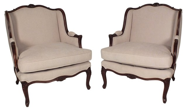 Provençal-Style Armchairs, Pair
