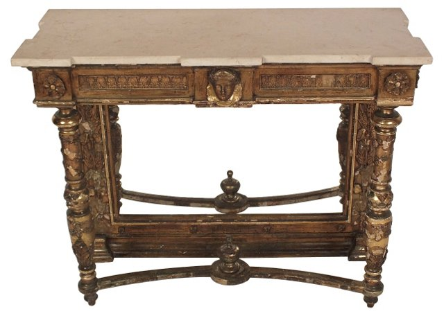 19th-C. Louis XIV-Style Console