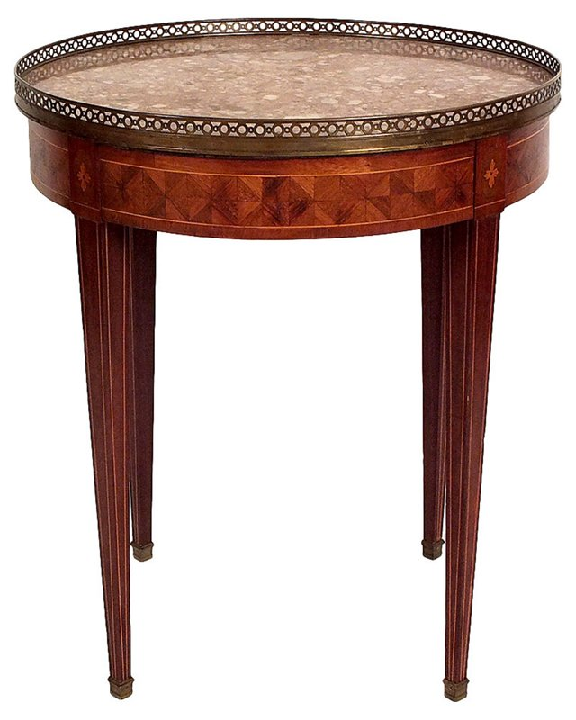 French Inlaid   Side Table