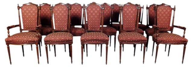 Upholstered  Dining Chairs, S/16