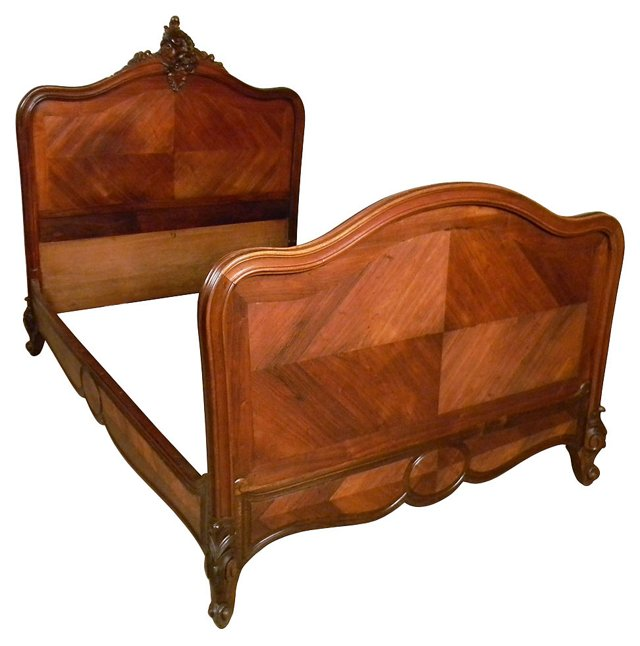 French Louis XV-Style Bed Frame