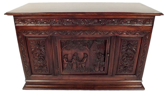 French Hand-Carved   Cabinet