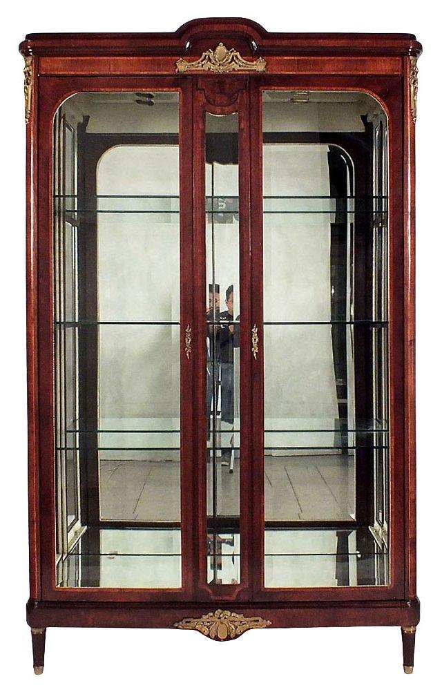 Louis XVI-Style 2-Door Display Cabinet