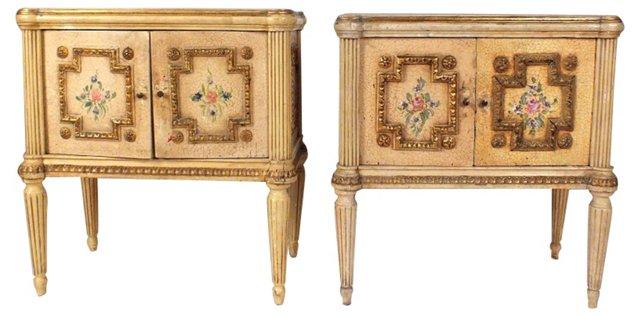 Painted Italian Nightstands, Pair DELETE