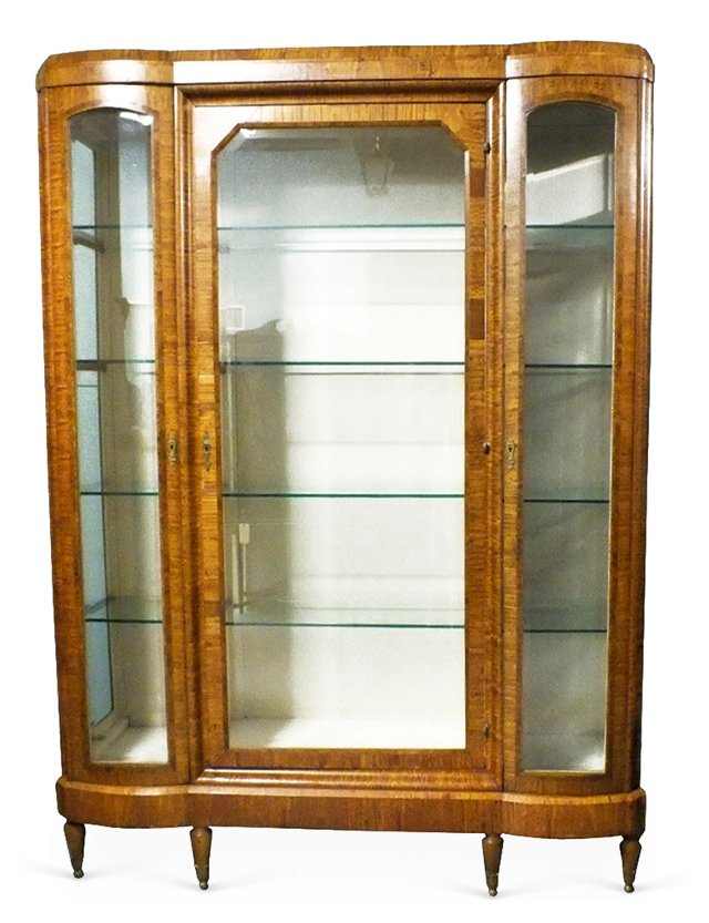 Antique 3-Door Display Case