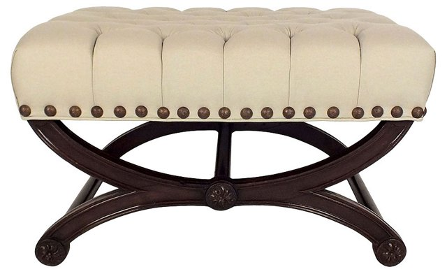 1950s  Tufted Bench