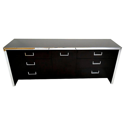 Midcentury Chrome Chest of Drawers